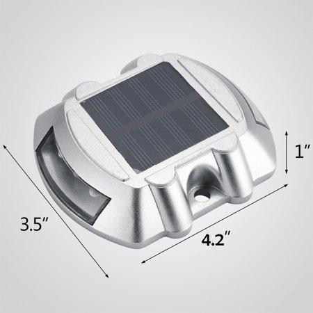 Die Casting Aluminum Solar Powered Lighting Sense LED Road Stud Lamp for Garden Landscape Street Pathway - image 4 of 4