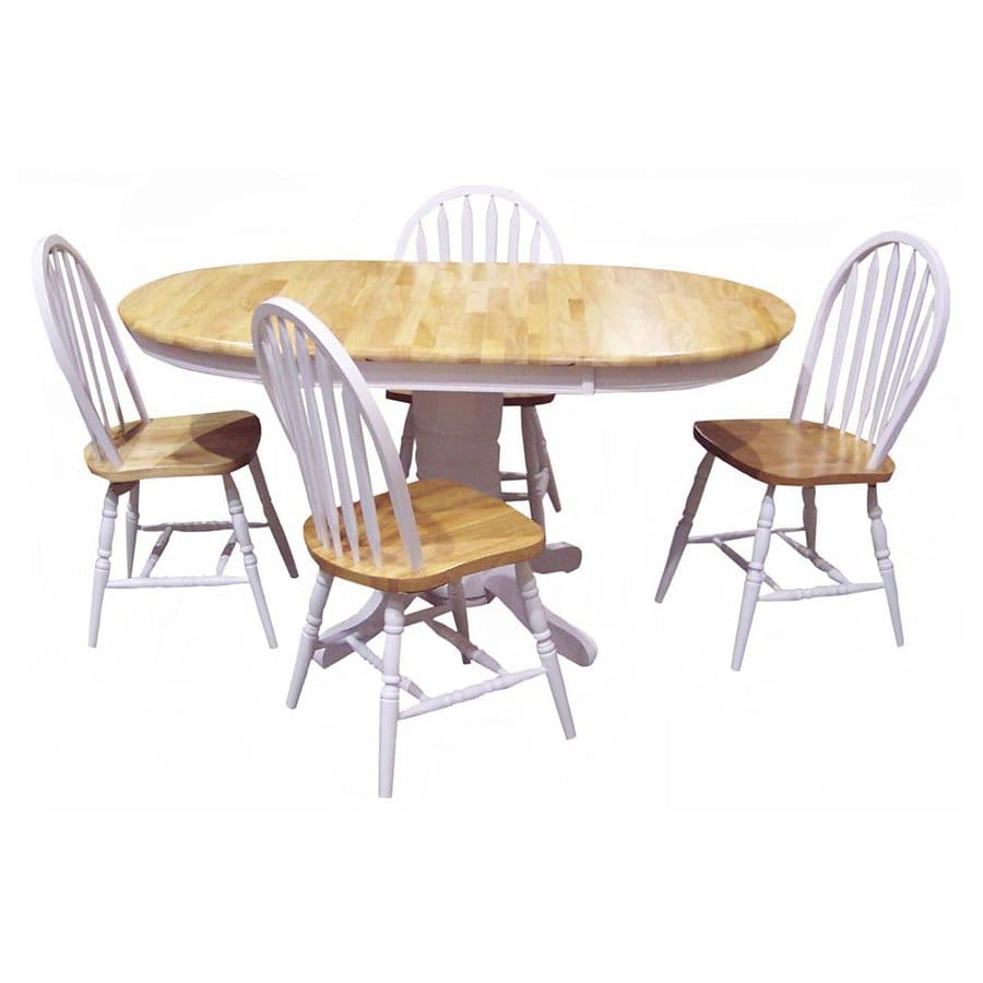 TMS Furniture 69405 Farmhouse 5-Piece Dining Set