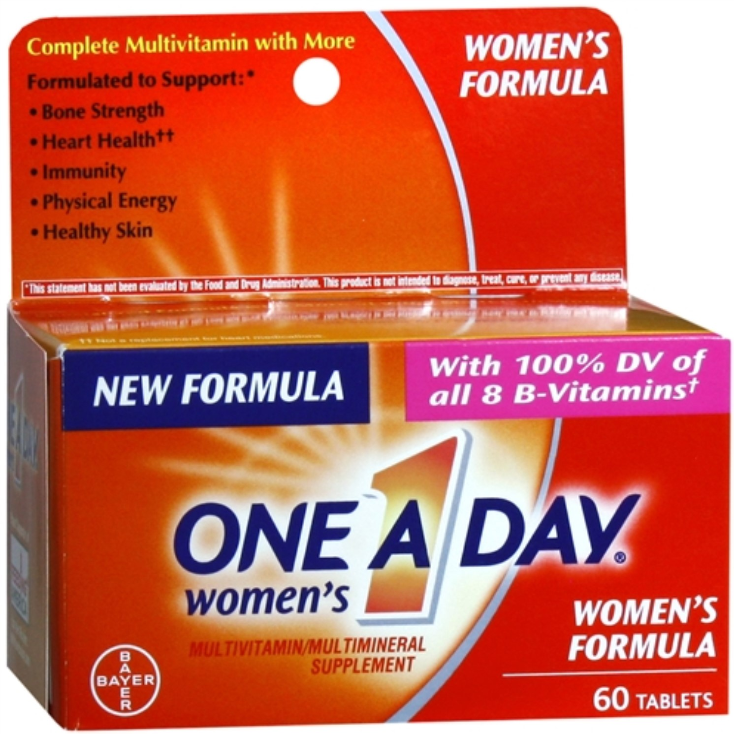 One-A-Day Women's Formula Vitamins, Tablets 60 ea (Pack of 4)