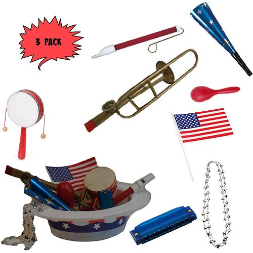 4th of July Parade Pack for Kids - Music & Fun Pack E2 (X3)