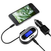 Insten FM Transmitter Car Radio Adapter 3.5mm Universal For iPhone SE 6 6S Plus 5S 5 iPod Touch 5th 6th Nano iPad Pro Mini Air / Samsung Galaxy S7 S6 Edge S5 S4 Note 5 Core Grand Prime E5 J1 J3 J5 J7