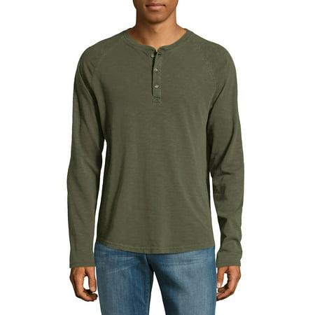 Raglan-Sleeve Cotton Henley