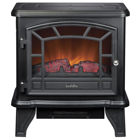 22ga Welded Black Stove (Duraflame Maxwell Electric Stove with Heater,)