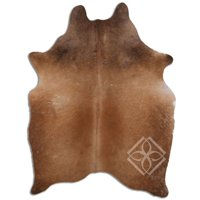 Real Cowhide Rug NATURAL HAIR ON COWHIDE BROWN 1 - 2 M GRADE C SIZE 10 - 22 sqft