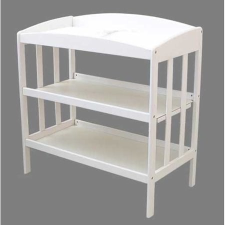 Marvelous Wood Changing Table With Two Storage Shelves Download Free Architecture Designs Embacsunscenecom