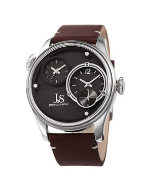 44b259e95 Product Image Men's Quartz Dual Time Stainless Steel Silver-Tone Leather  Strap Watch. Product TitleJoshua & SonsMen's ...
