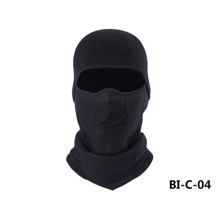 Winter Sports Riding Skiing Multifunctional Windproof Warm Collar Hat Cap Scarf Turban Mask Headgear for Men Women Color:Black ()