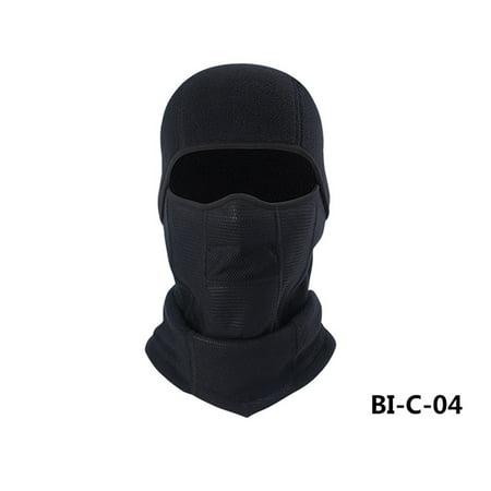 Winter Sports Riding Skiing Multifunctional Windproof Warm Collar Hat Cap Scarf Turban Mask Headgear for Men Women Color:Black (Scary Half Mask)