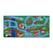 Kid's Carpet w Transportation Theme for Daycare of Classroom