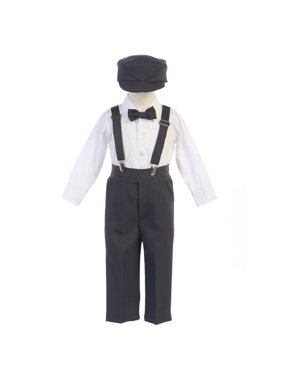 1f398d1782f Product Image Little Boys Charcoal Adjustable Clip-On Suspender Pants Hat  Set 2T-7. Sophias Style