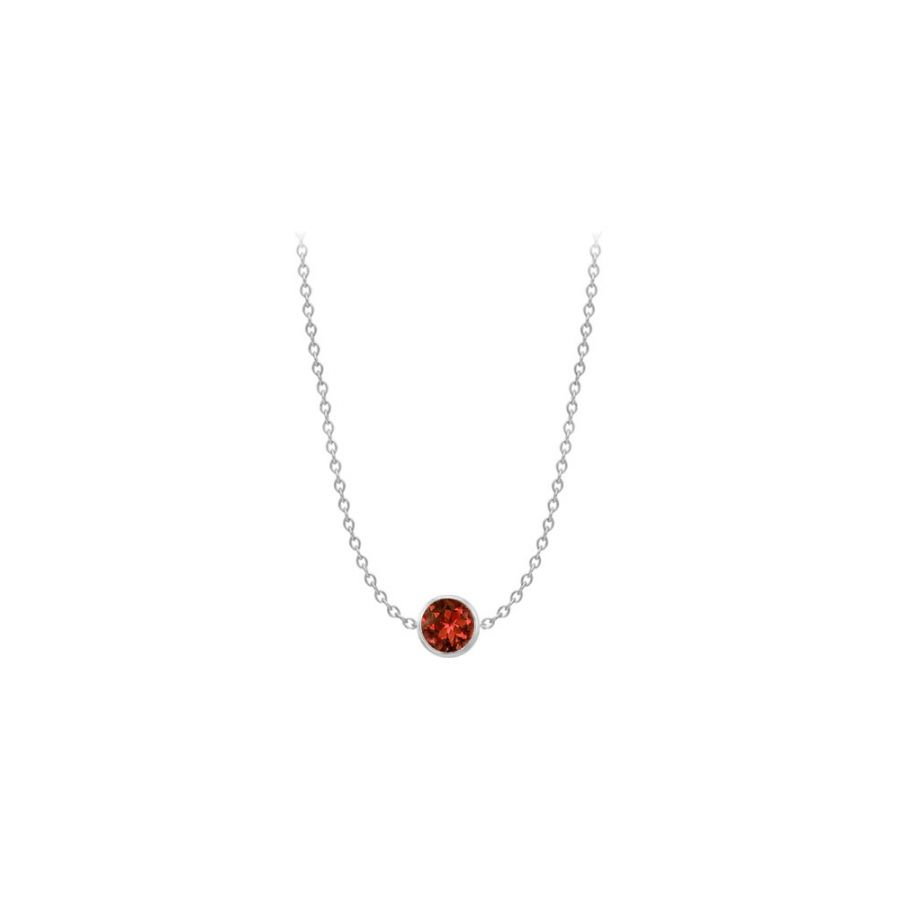 LoveBrightJewelry Garnet by the yard necklace in 14K white gold 2 carat tgw by Love Bright
