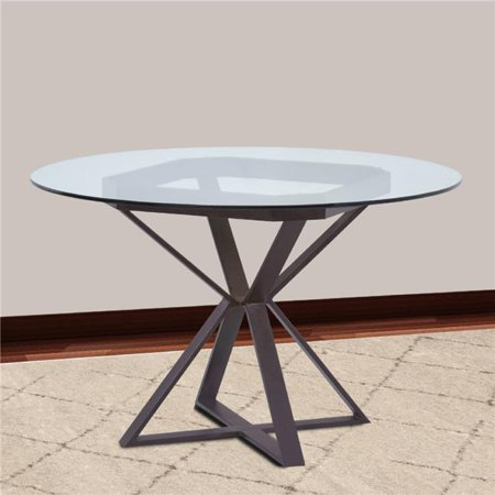 cairo round dining table in auburn bay 48 in glass top. Black Bedroom Furniture Sets. Home Design Ideas