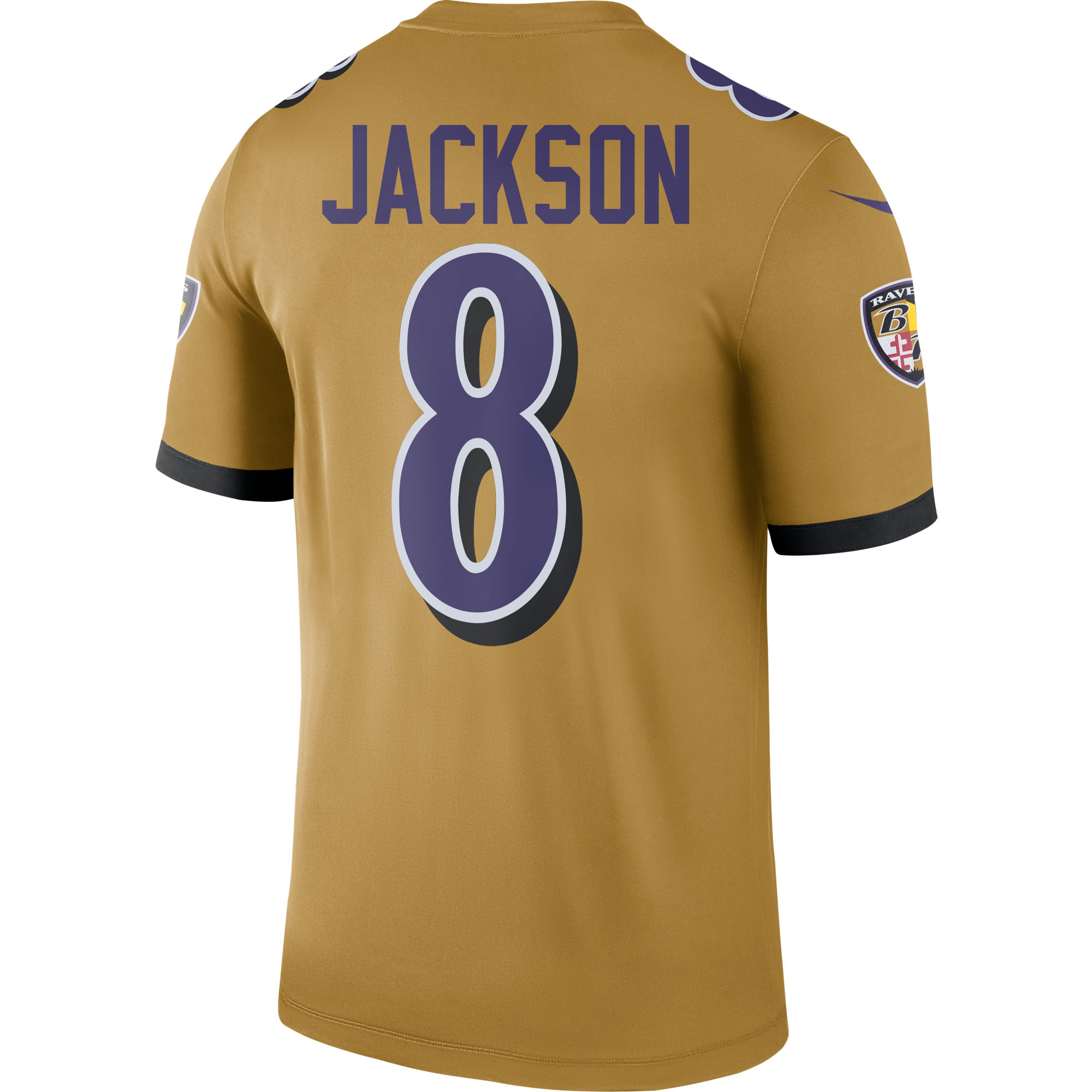 buy popular c7664 d200f Lamar Jackson Baltimore Ravens Nike Inverted Legend Jersey - Gold