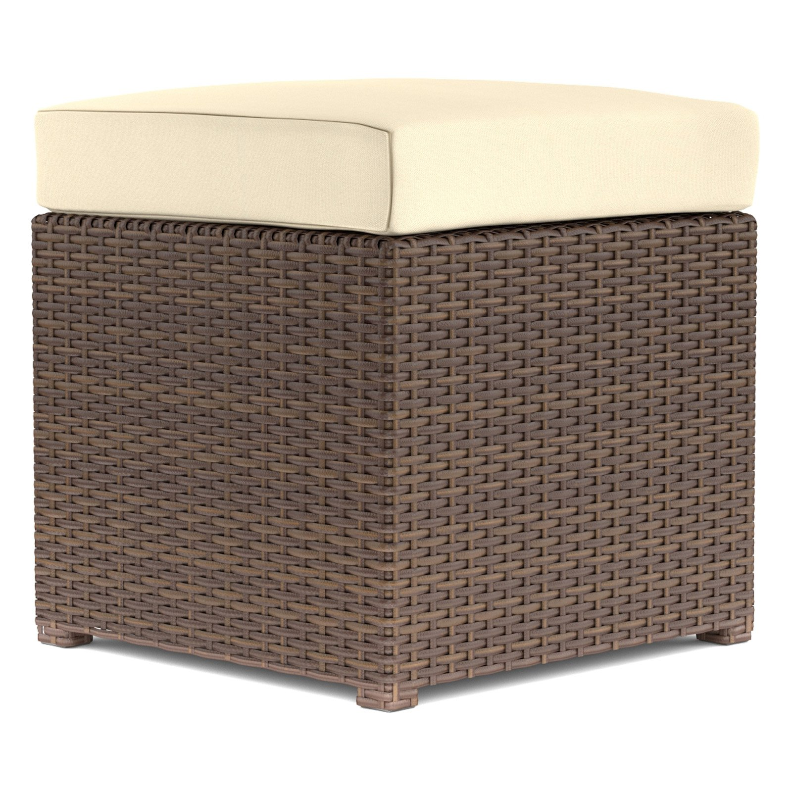 Handy Living Hudson 2 Piece Rattan and Aluminum Outdoor Ottoman Set
