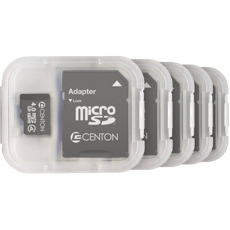Centon MP Essential 4GB Class 4 microSDHC Card, 5pk