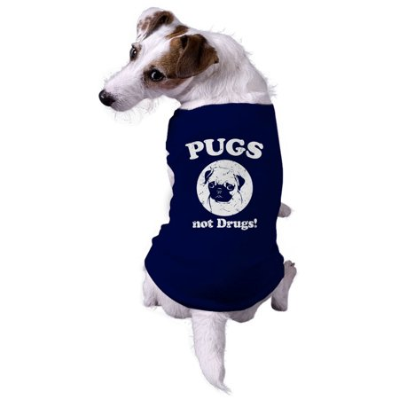 Dog Pugs Not Drugs Hilarious Jacket for Pets Dog Shirt