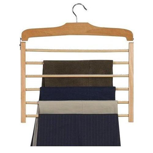 Only Hangers Inc. Wooden Specialty Multi Pant Non-Slip Hanger