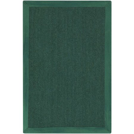 8 X 10 Deep Aspirations Hunter Green Hand Loomed Area