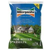 Milorganite Slow-Release Nitrogen Long Lasting All Purpose Fertilizer 6-4-0, 32 lbs
