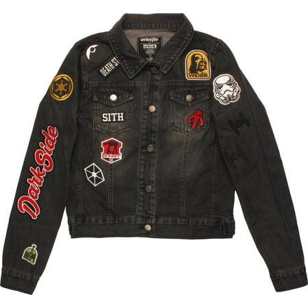 Star Wars Dark Side Patches Womens Denim Jacket