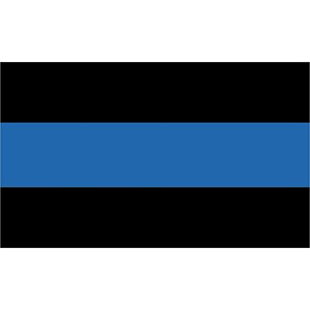 MAGNET Thin Blue Line Police 5.5 Inch Magnetic Sticker Decal](Police Badge Stickers)