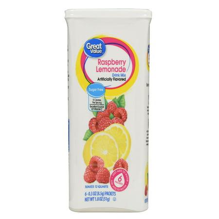 Great Value Drink Mix, Raspberry Lemonade, Sugar-Free, 1.8 oz, 6 Count - Halloween Alcoholic Drink Mixes