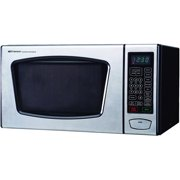 Emerson 0 90 Cubic Foot Microwave Oven Stainless Steel And Black