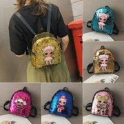 Women Mini Sequin Backpack Girls School Bag Small Travel Handbag Shoulder Bag