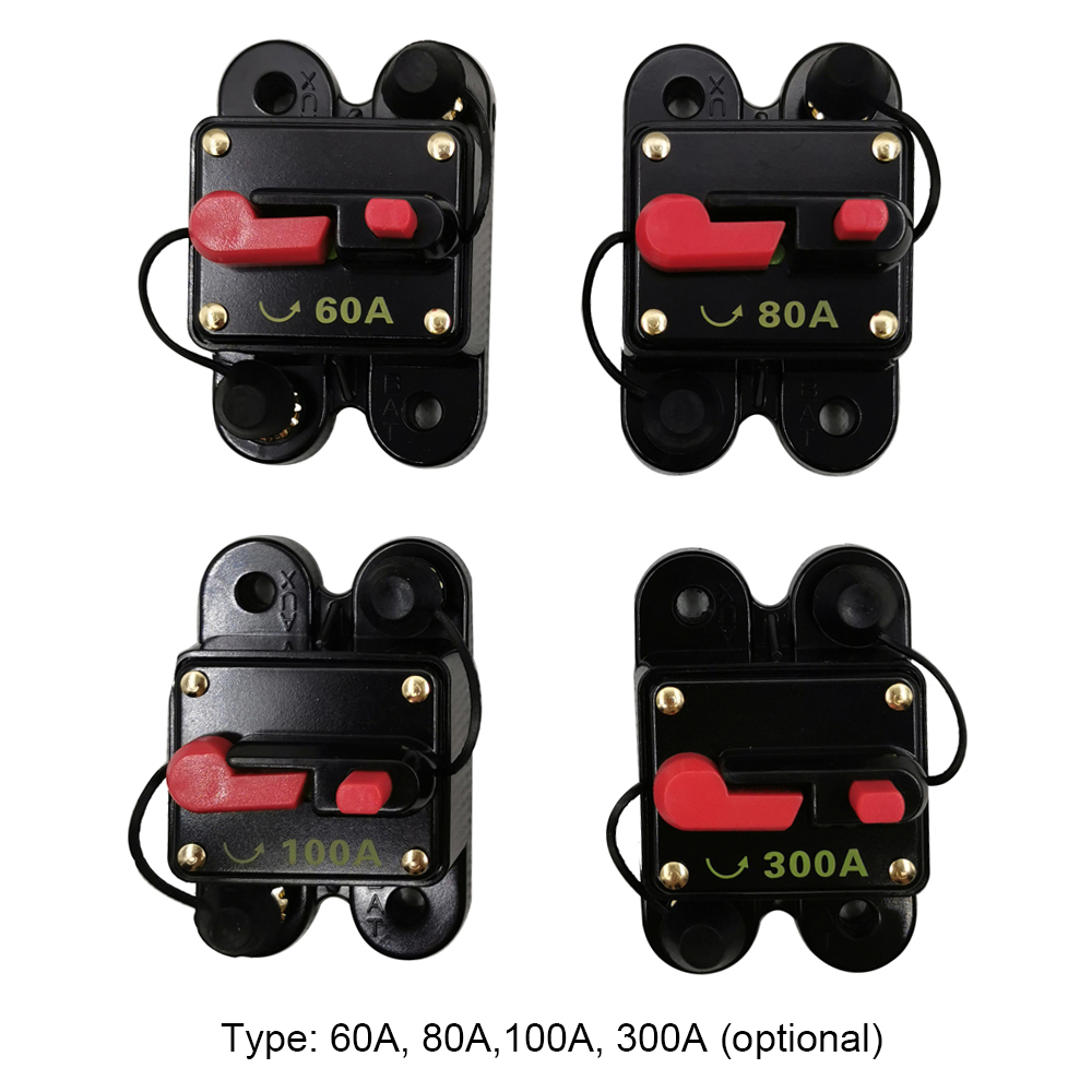 Mini Size Lightweight Portable Automatic Car Circuit Breaker 12V-24V DC Thermal Circuit Breakers Easy Installation Device