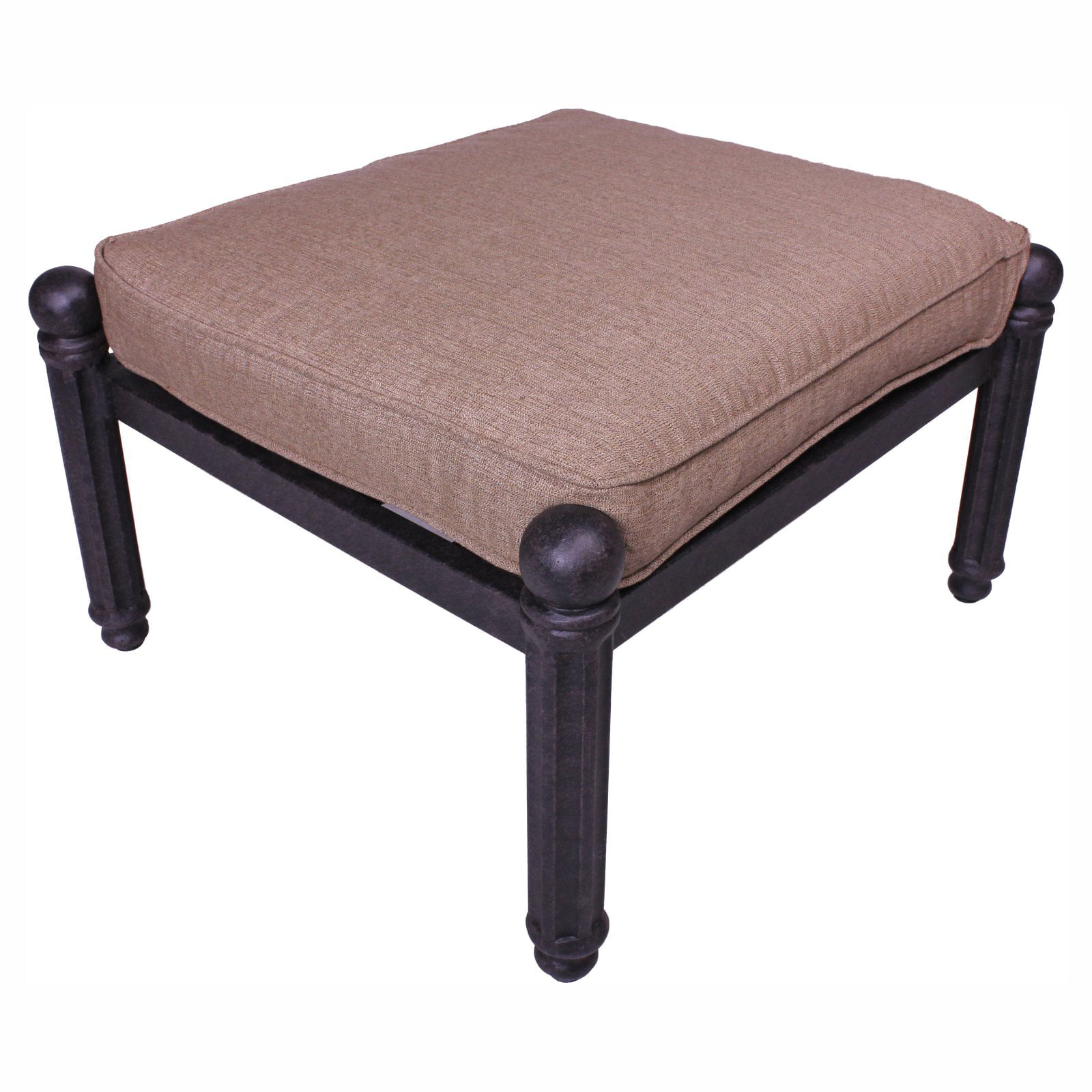 Click here to buy Paradise Cove Designs Balboa Aluminum Outdoor Ottoman with Optional Cushion.