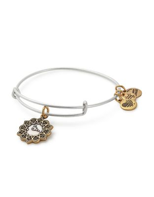 Zodiac Cancer Crystal Charm Bangle Bracelet