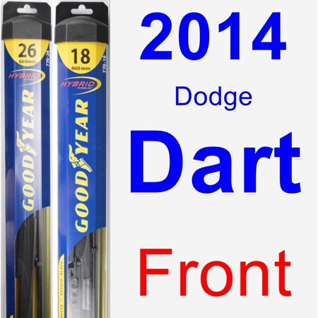 2017 Dodge Dart Wiper Blade Set Kit Front 2 Blades