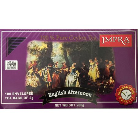 Impra English Afternoon Tea, 100-Count Tea Bags. Includes Our Exclusive HolanDeli Chocolate Mints. - Halloween Afternoon Tea 2017