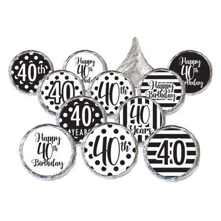 40th Birthday Party Stickers 324 Count