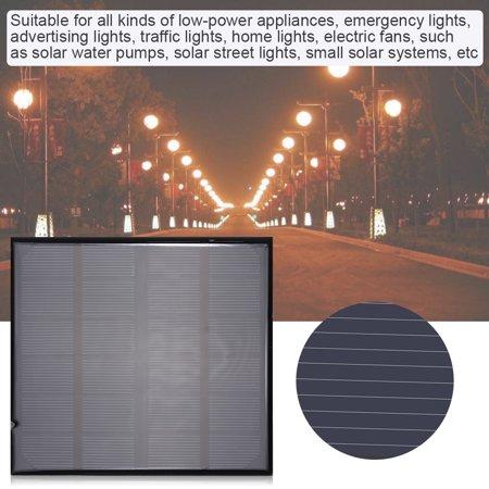 Peahefy 6V 2W mini alimentation intelligente de panneau solaire polycristallin portatif pour chargeur de batterie extérieur, panneau solaire, panneau solaire de batterie - image 3 de 8