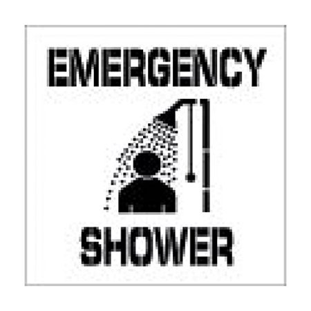 National Marker Corp. PMS208 Emergency Shower Plant Marking Stencil