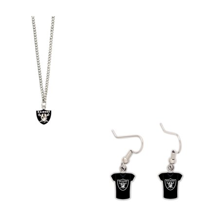 Bundle: Oakland Raiders Logo Necklace and Jersey - Raiders Necklace