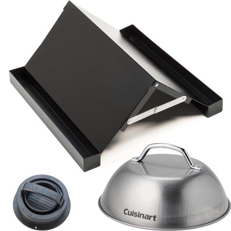 Cuisinart Bacon Rack, Stuffed Burger Press, and Grill Melting Dome Value Bundle ()