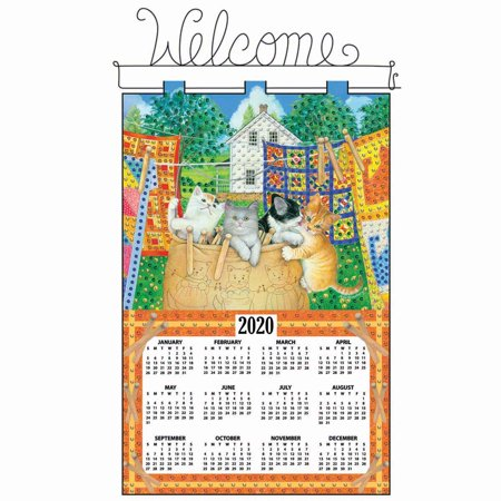 Design Works™ Hanging Out Kittens Calendar Felt & Sequin Kit