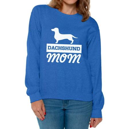Awkward Styles Women's Dachshund Mom Dog Lover Graphic Sweatshirt Tops Dachsie ()