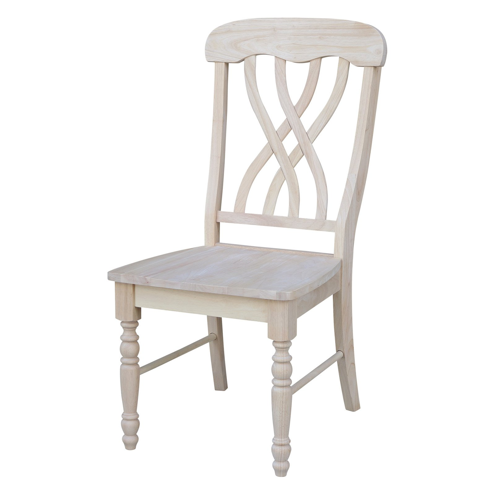 Merveilleux International Concepts Unfinished Lattice Side Dining Chairs   Set Of 2    Walmart.com