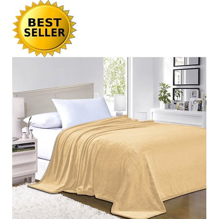 #1 Fleece Blanket on Walmart - Super Silky Soft - SALE - All Season Super Plush Luxury FLEECE BLANKET King/Cal King Gold, #1 LUXURY FLEECE BLANKET ON Walmart.., By Elegant Comfort