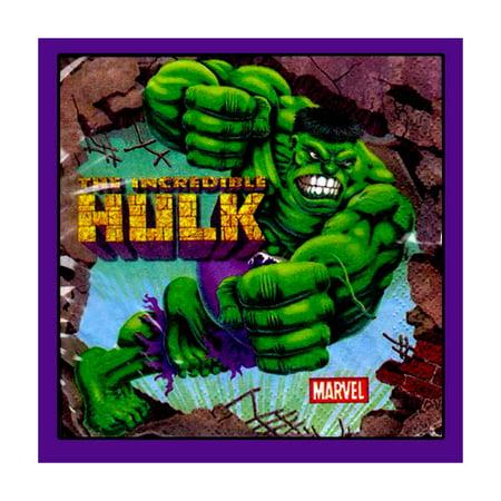 Incredible Hulk Animated Small Napkins - Hula Party Supplies