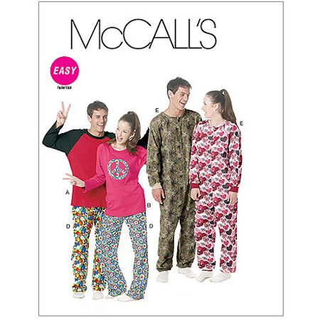 McCall's Pattern Misses' and Men's and Teen Boys' Tops, Pants and Jumpsuit, Z (L, XL)