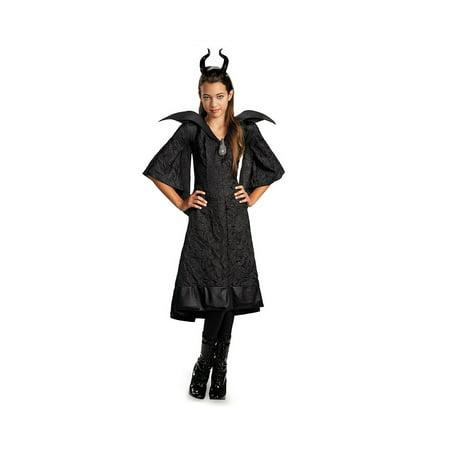 Diseney Maleficent Christening Black Gown Classic Girl Costume