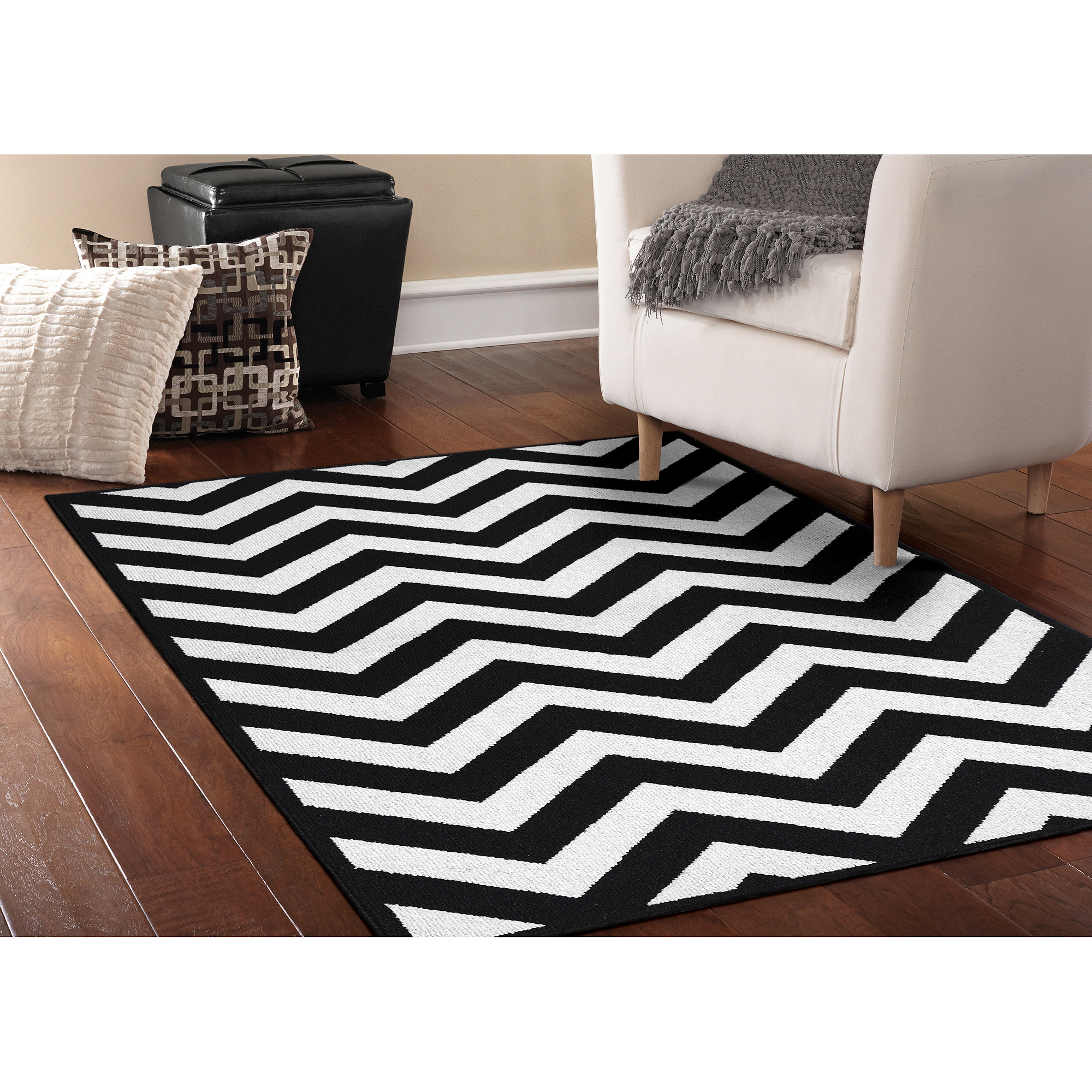 Garland Rug Large Chevron Area Rug, 5' x 7'