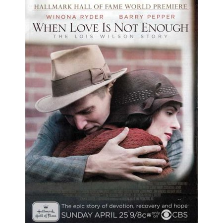 When Love Is Not Enough The Lois Wilson Story Movie Poster (11 x