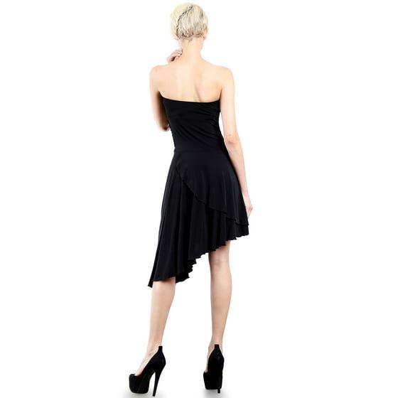 dd57b13c03 Evanese - Evanese Women s Cocktail Party Strapless Tube Dress with Asymmetrical  Skirt - Walmart.com