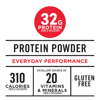 Muscle Milk Protein Powder, Natural Chocolate, 32g Protein, 2.5lb, 40oz