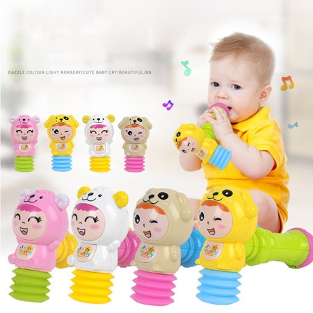 Toy Hammer with Light Sound Effects and Comfortable Grip for Toddlers Color:Multicolor
